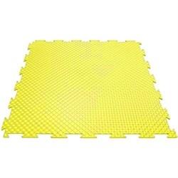Эластичное напольное покрытие для тренажерных залов, 37,5х37,5х0,8/1/1,4 см, желтый - фото 646177