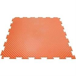 Эластичное напольное покрытие для тренажерных залов, 37,5х37,5х0,8/1/1,4 см, оранжевый - фото 646179