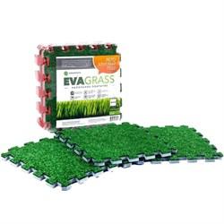 "Модульная искусственная трава ""EVAGRASS"" 50х50х1,2 см,  4 плиты - фото 660930"