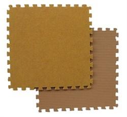 Модульный ковролин 27х27х0,7 см, желто - бежевый - фото 689488