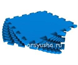 "Коврик-пазл Экополимеры (9 плит 33x33x0,9см, ~1кв.м./уп) ""Синий"" - фото 691059"