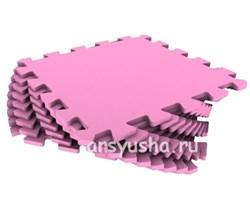 """Коврик-пазл Экополимеры (9 плит 33x33x0,9см, ~1кв.м./уп) """"Розовый"""" - фото 691061"""