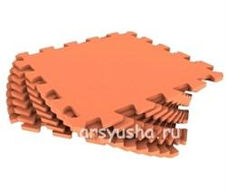 """Коврик-пазл Экополимеры (9 плит 33x33x0,9см, ~1кв.м./уп) """"Оранжевый"""" - фото 691062"""
