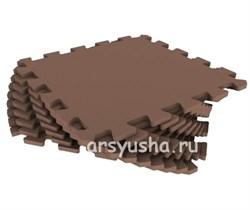 """Коврик-пазл Экополимеры (9 плит 33x33x0,9см, ~1кв.м./уп) """"Шоколадный"""" - фото 691064"""
