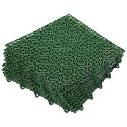 Покрытие пластиковое, универсальное 1м.кв. (9 плиток), зеленый - фото 691617