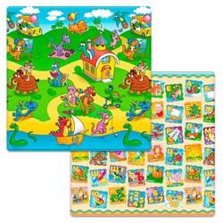 """Коврик игровой детский двусторонний Funkids """"Small-12"""" (1400х1400х12) 002 - фото 692091"""