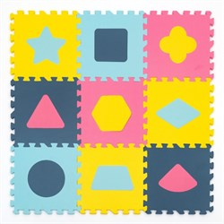 """Игровой коврик-пазл Funkids 12 """"Геометрия"""" толщина 15 мм (9 частей) - серия NT - фото 692886"""