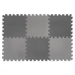 "Коврик-пазл Funkids 12"" без рисунка ""Симпл-12-10"", черный, 6 плит, 30х30х1 см - серия NT10 - фото 692898"