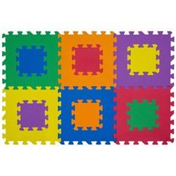 """Коврик-пазл 12"""" Funkids """"Мозаика-12"""" без изображений толщина 15 мм (6 частей), серия NT - фото 694592"""