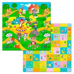 "Коврик игровой детский двухсторонний Funkids ""Small-12"" (1400х1400х12) 010 - фото 695126"