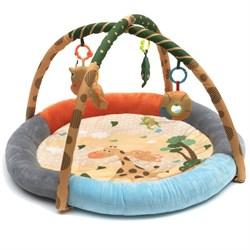 """Игровой развивающий коврик с игрушками Funkids """"Round Comfy Gym"""" - фото 695180"""