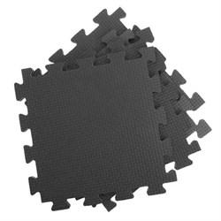 Покрытие для тренажерного зала 70ШОР, 75х75х1 см, черный - фото 695391