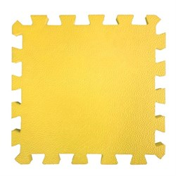 "Коврик-пазл BABYPUZZ (4 плиты 50x50x1см, 1кв.м./уп), текстура ""кожа"", желтый - фото 695687"