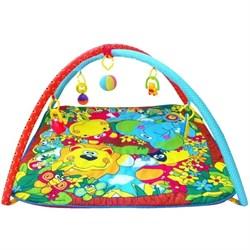 """Развивающий коврик """"Джунгли"""" с навесными игрушками на дуге - фото 695959"""
