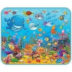 """Детский развивающий коврик  Mambobaby  """"Подводный мир"""" 130х160х0,5см - фото 696408"""