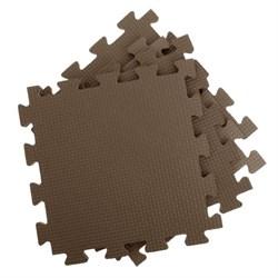 Покрытие для тренажерного зала 80ШОР, 75х75х1,8 см, коричневый - фото 696436
