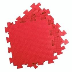 Покрытие для тренажерного зала 80ШОР, 75х75х1,8 см, красный - фото 696439