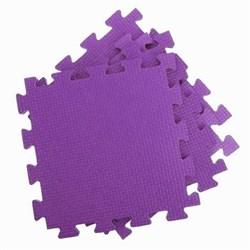 Покрытие для тренажерного зала 80ШОР, 75х75х1,8 см, фиолетовый - фото 696445