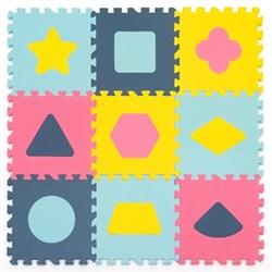 """Игровой коврик-пазл Funkids 12 """"Геометрия""""   толщина 10 мм (9 частей) - серия NT10 - фото 696648"""