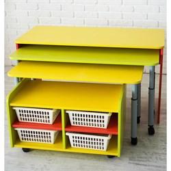 """Многофункциональный детский стол для развивающей деятельности с набором корзин """"Поместим все"""" - фото 697631"""