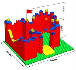 """Большой конструктор LK """"Замок"""" GB5"""" M на платформе 40х35, для детей 2-5 лет - фото 697727"""