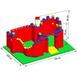 """Большой конструктор LK """"Замок"""" GB5"""" L на платформе 52х35, для детей 2-5 лет - фото 697735"""