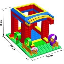 """Большой конструктор LK """"Домик"""" GB5"""" S на платформе 20х28, для детей 2-5 лет - фото 697743"""