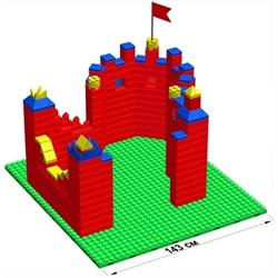 """Большой конструктор LK """"Крепость"""" GB7,5"""" L на платформе 32х35, для детей 3-8 лет - фото 697812"""