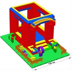 """Большой конструктор LK """"Домик"""" GB7,5"""" L на платформе 28х42, для детей 3-8 лет - фото 697872"""