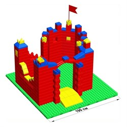 """Большой конструктор LK """"Замок"""" GB10"""" S на платформе 32х35, для детей 5-12 лет - фото 697943"""