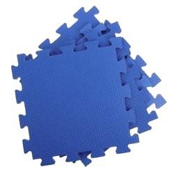 Покрытие для тренажерного зала 70ШОР, 75х75х1 см, синий - фото 705391
