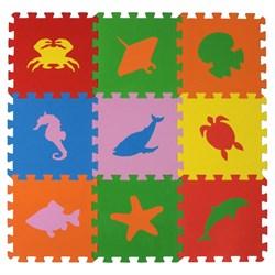 """Коврик-пазл Экополимеры (9 плит 33x33x0,9см, ~1кв.м./уп) """"Морские животные"""" - фото 721048"""