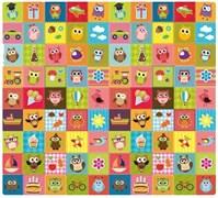 """Детский развивающий игровой коврик Mambobaby """"Совята"""" (Односторонний) 200x180x0,5см."""