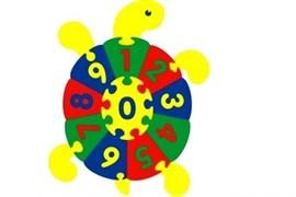 """Коврик """"Черепаха с цифрами"""" 70х87"""