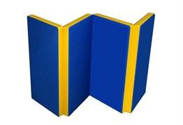 Мат №5 гимнастический двухцветный складной 100х200х10 см.