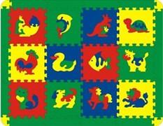 Коврик с животными 12 дет. 123x95 см (арт. 45425)