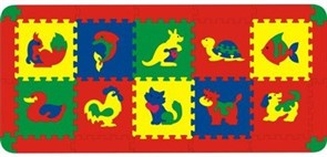 Коврик с животными 10 дет. 150x68 см (арт. 45426)