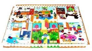 "Двусторонний игровой коврик-пазл MAMBOBABY ""Семейный дом"" с кромками (180х120х2 см)"