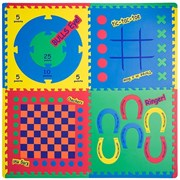"""Коврик-пазл Funkids 24"""" с рисунками """"Игровой Центр 4 в 1"""", 4 плиты, 60х60х1,5 см"""