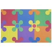 """Коврик-пазл Funkids 12"""" с коннекторами """"Цветы-12"""", 30 плит, 30х30х1,5 см"""