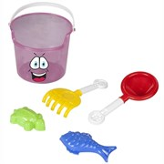 Набор для пляжа и песочницы Pilsan Cute Bucket (06-117) Розовое ведёрко МС