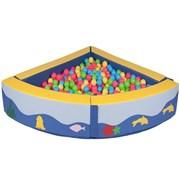 Сухой бассейн Аконит-М, 135х135х30х15 см, 500 шариков
