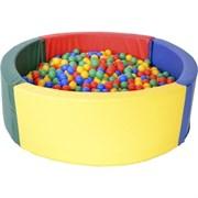 Сухой бассейн Аконит-М, D.160х50х10 см, 1500 шариков
