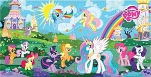 """Коврик-пазл """"My Little Pony"""" 8 элементов, каждый 31,5х31,5см"""