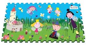 """Игровой коврик-пазл Mambobaby """"Бэн и Холли Маленькое королевство"""", 8 элементов, каждый 31,5х31,5см"""
