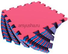 Мягкий пол 25x25x0,9см цвет красно-синий
