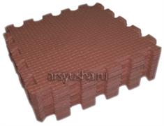 Мягкий теплый пол BABYPUZZ плиты 33х33х1см коричневый