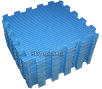 Мягкий теплый пол BABYPUZZ плиты 33х33х2 см голубой