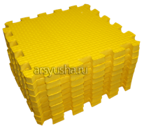 """Коврик-пазл BABYPUZZ (9 плит 33x33x2см, ~1кв.м./уп) """"Желтый"""""""