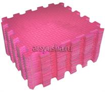 Мягкий теплый пол BABYPUZZ плиты 33х33х2 см розовый